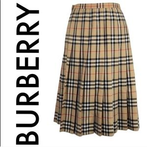 👑 BURBERRYS NOVA LONG WOOL SKIRT 💯AUTHENTIC